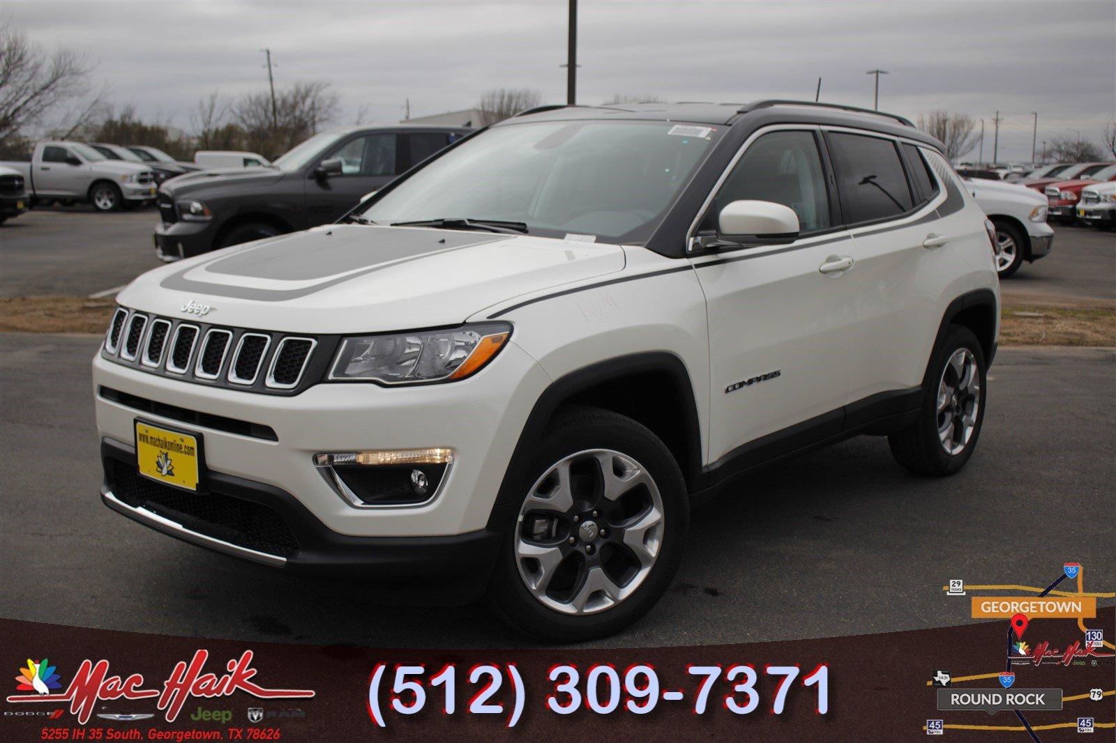 2018 jeep compass limited sport utility for sale in austin tx jt232635 mac haik dodge. Black Bedroom Furniture Sets. Home Design Ideas